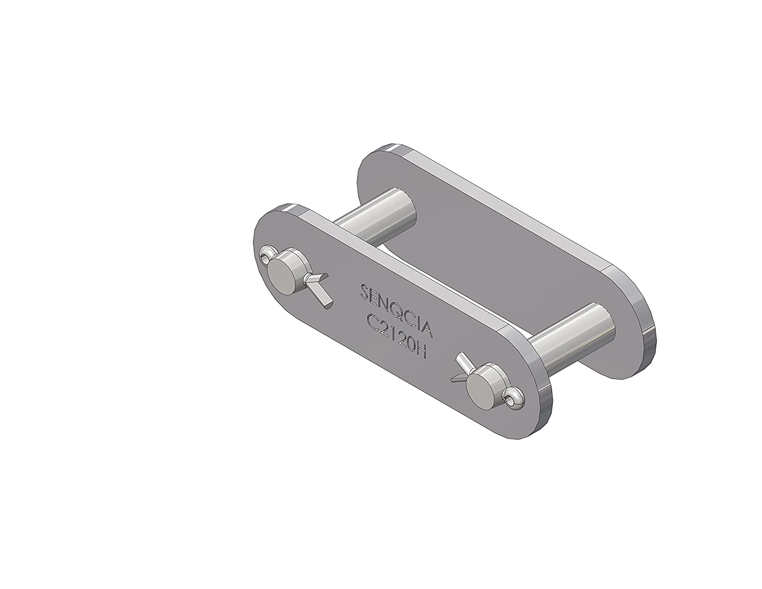 Cotter Type for Double Pitch Chain 4.38 Length 3 Pitch Senqcia Inspire Series C2120CL Connecting Link Pack of 3