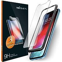 vau iPhone Xr Panzerglas Glas Pro Schutzfolie 3 x Panzerglasfolie Vorne + Installationswerkzeug Displayschutzfolie Front (für Apple iPhone 10r 6.1 LCD 2018)