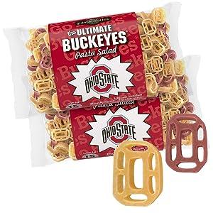 Pastabilities Ohio Buckeyes Shaped Pasta & Salad Dressing Mix with Seasoning (16 oz, 2 Pack)