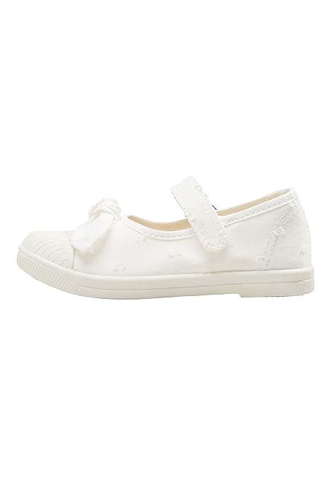 next Niñas Zapatillas Estilo Merceditas con Lazo (Niña Pequeña) Dobby Blanco EU 29: Amazon.es: Zapatos y complementos