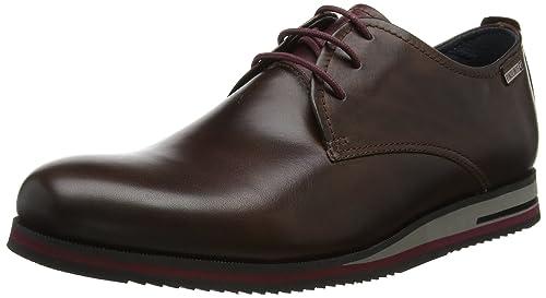 Leon Pikolinos M9h, Oxford Chaussures À Lacets Pour Les Hommes, Brun (cuir En Cuir), 44 Eu