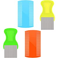 Head Hair Combs Double Sided Plastic Combs Cat Dog Pets Flea Combs Head Lice Combs Fine Tooth Comb 4 Pieces for Grooming and Get Ride of Dandruff Flakes/Nit/Flea