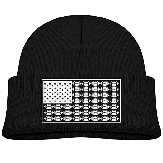 7cc22be1032 Image Unavailable. Image not available for. Color  SARA NELL Toddler Boys  Girls Knit Kids Hat American Football Rugby USA Flag Beanie Hats Skull