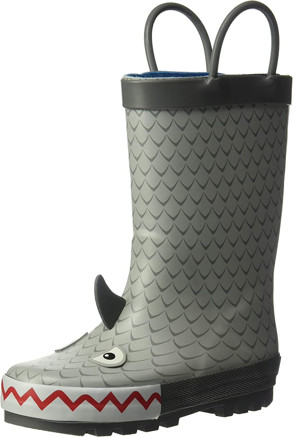 Carter's Boys' Marco Rubber Rainboot Rain Boot, Grey,