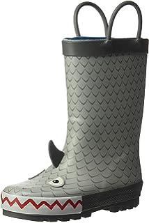 37f4c135 Kidorable - Botas de lluvia de goma natural con pestaña para el ...