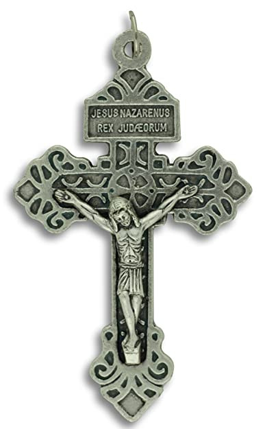 Pardon Crucifix Cross Large 2-1/8 Pendant Italy Indulgence Rosary Crucifix  Pendant