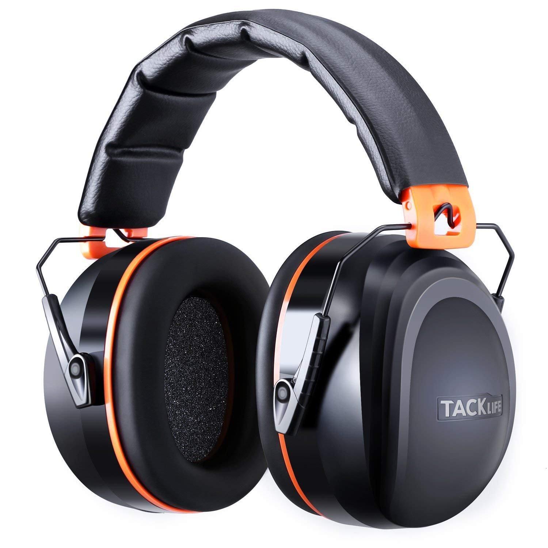 Tacklife HNRE1 Casque anti-bruit SNR à 34dB, certifié CE, réglable et confortable pour adulte et enfant Parfait pour un environnement bruyant ou si besoin de repos
