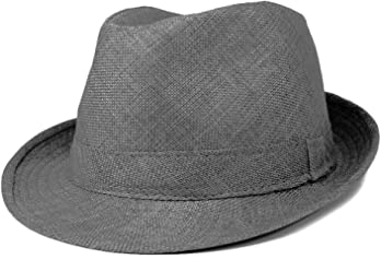 67ba44c4ad173 Mens Stylish Lightweight Linen Solid Color Fedora Hat
