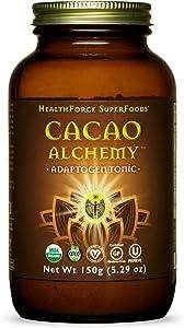 HealthForce SuperFoods Cacao Alchemy - 150 Grams - Superfood Adaptogen Tonic - Supports Energy, Endurance & Vitality - Organic, Vegan, Gluten Free - 60 Servings