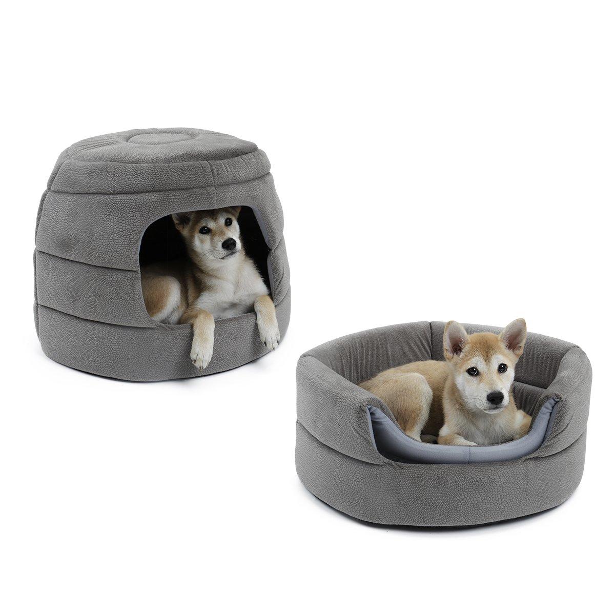 Speedy Pet - Sofá Cama 2 en 1 para Perro, Cama Antideslizante con cojín Desmontable, Lavable, Cama Igloo, Cesta Suave para Perro y Gato, ...