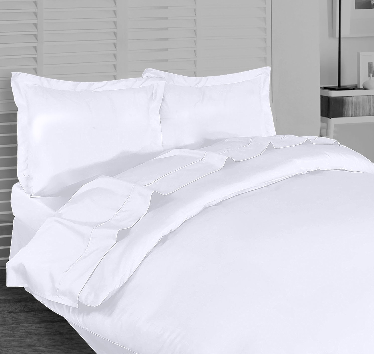 Utopia Bedding 3 Piece King Duvet Cover Set with 2 Pillow Shams, White