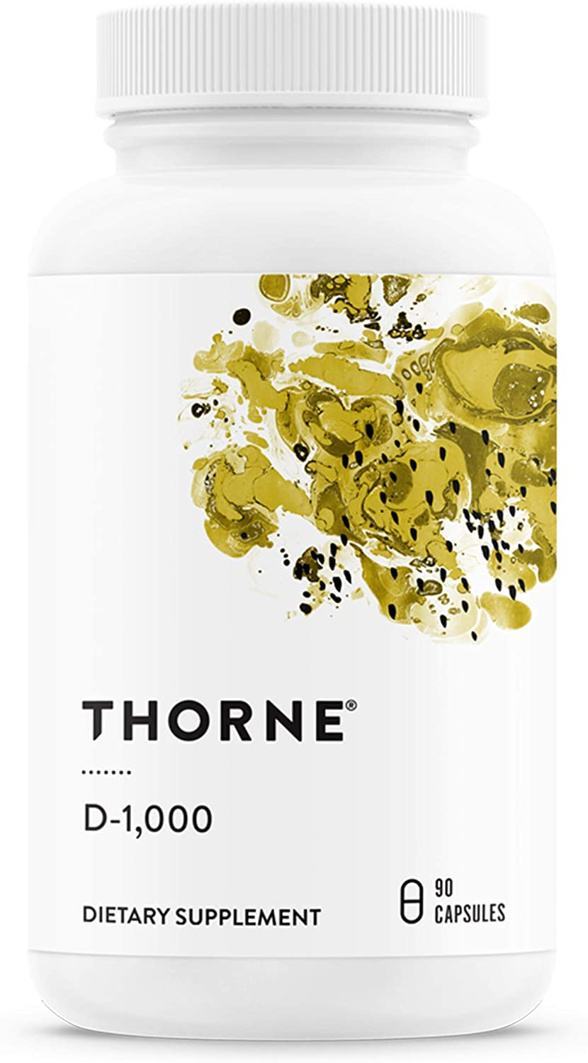 Thorne Research - Vitamin D-1000 - Vitamin D3 Supplement (1,000 IU) for Healthy Bones and Muscles - 90 Capsules: Health & Personal Care