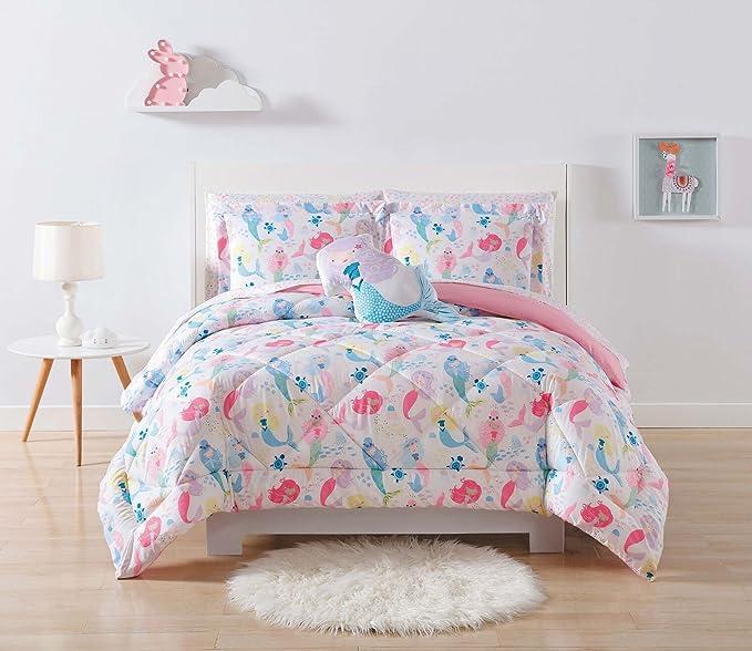 Amazon Com My World Cs2323fq 1500 Mermaids Comforter Set Full Queen Home Kitchen
