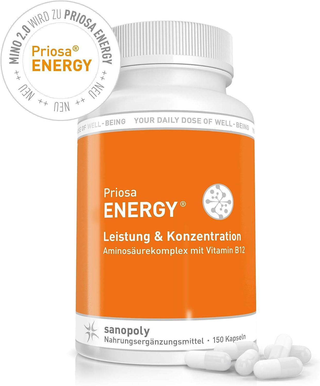 para dietas, crecimiento muscular y tejido conectivo | 16 aminoácidos esenciales, semi-esenciales y no esenciales || PriosaMINO® 2.0 | Optimiza los ...