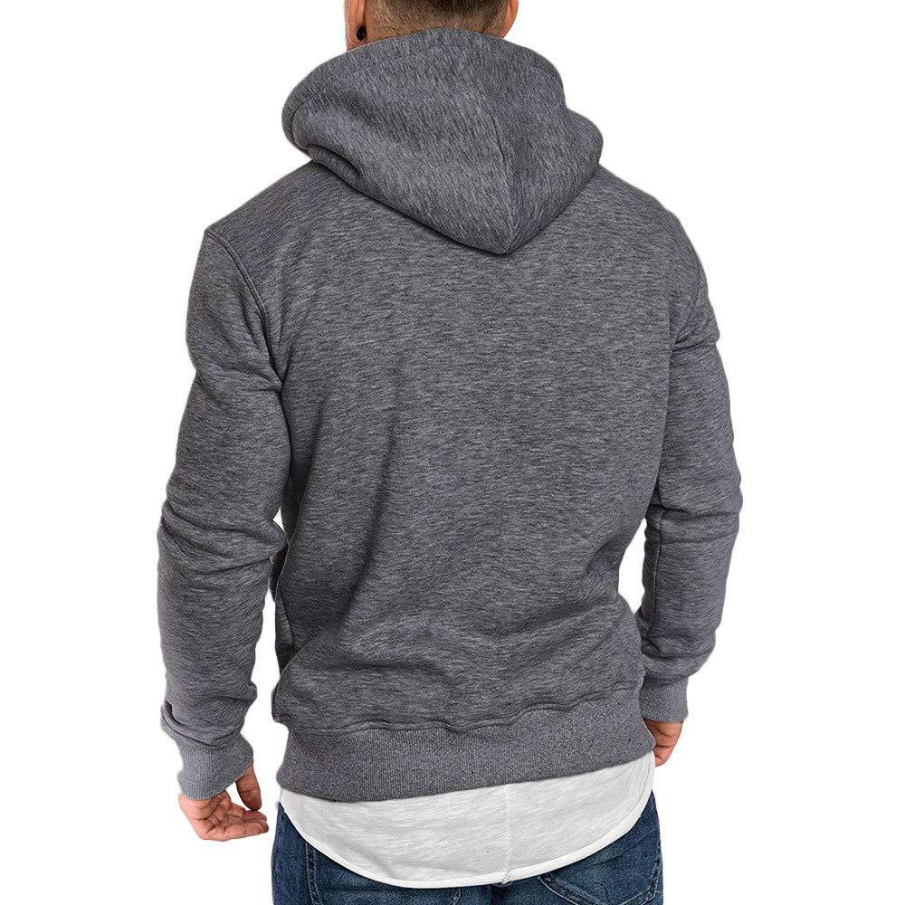 Jaminy Herren Slim Fit Hoodie Long Sleeve Kapuzenpullover Muster Sweatshirt Pullover Sweatshirt Basic Rundhals Langarm Oversize Shirt Hoody Sweater