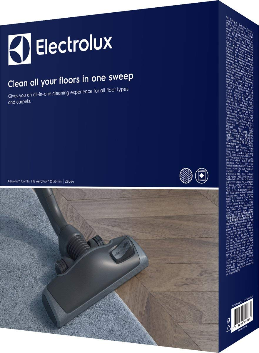 Electrolux ZE 064 Aero Pro Combination Nozzle for Vacuum Cleaners with a Maximum 36 mm Suction Tube UltraOne/UltraAktive/UltraSilencer/UltraPerformer/Usgreen/Uoeco/Upgreen