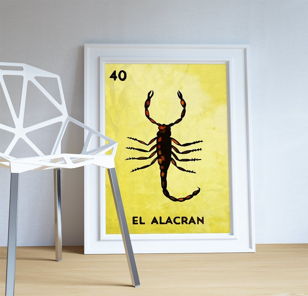 Amazon.com: Loteria El Alacran Mexican Retro Illustration Art Print ...