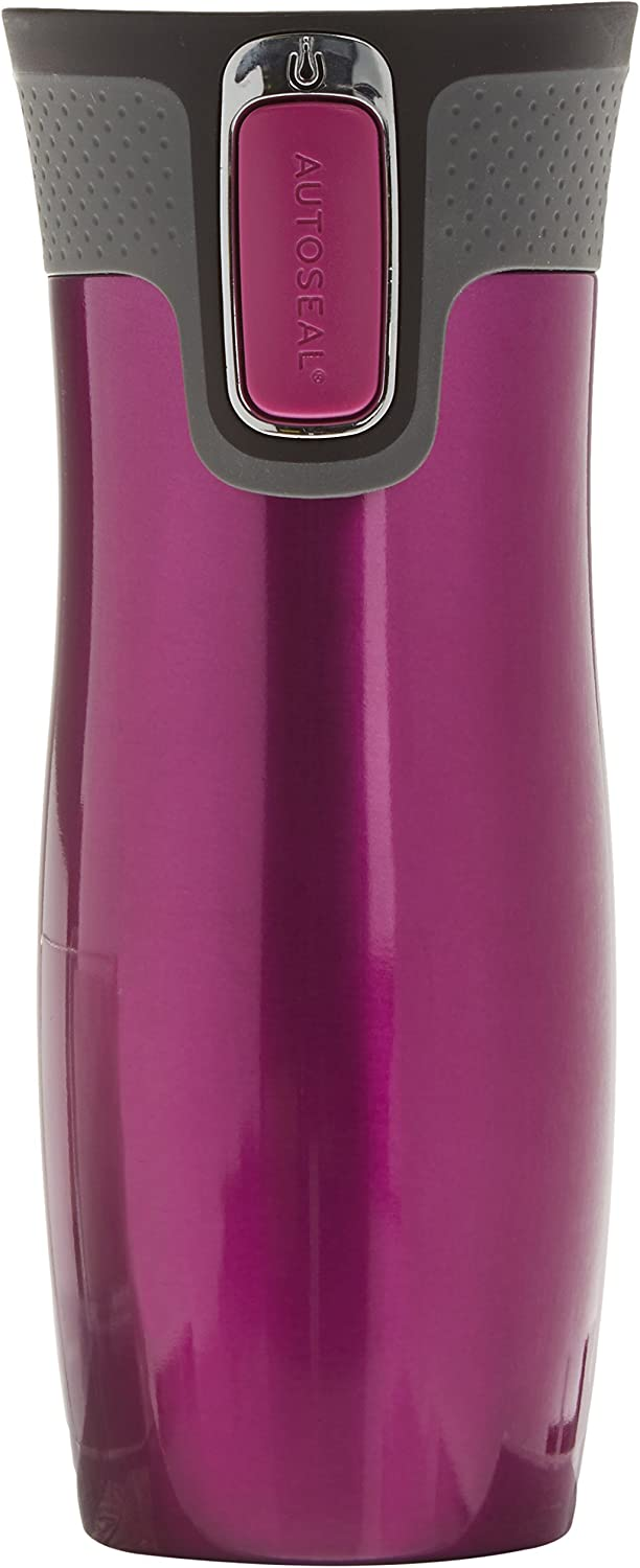Coffee Mug Dishwasher Safe lid Contigo Unisex/_Adult Thermobecher West Loop Autoseal Stainless Steel Insulated BPA-Free Leak-Proof 470 ml