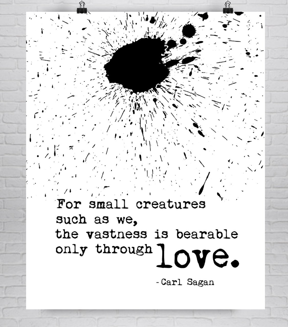 Carl Sagan Fine Art Love Quote Print on Cotton Paper in Various Sizes **Unframed**