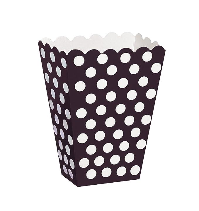 150 opinioni per Unique Party 59290- Scatole Popcorn Sorpresa a Pois Neri, Confezione da 8