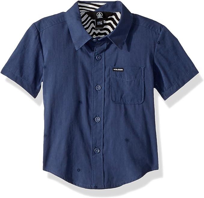 Volcom Bleeker Short Sleeve Button Up Shirt Little Boys