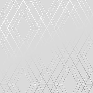 U-geometrische Tapete, grau und Silber – Von wow001 Tapete