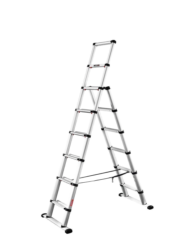 Argent TELESTEPS LTT6+2 Escabelle t/élescopique 2,30m