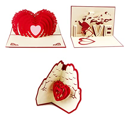 Artone - Creativa tarjeta en 3D para San Valentín, amistad, agradecimiento, amor, buenos deseos.
