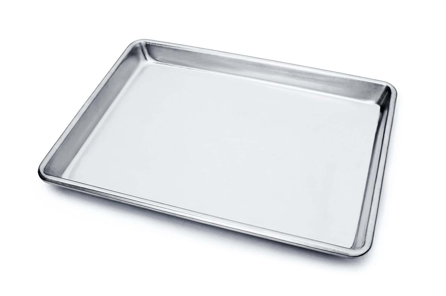New Star Foodservice 36831 Commercial 18-Gauge Aluminum Sheet Pan, 9 x 13 x 1 inch (Quarter Size)