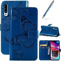 Robinsoni Case Compatibel met Samsung Galaxy A70 Telefoonhoesje Portemonnee Leer PU Telefoonhoesje Schokbestendig…