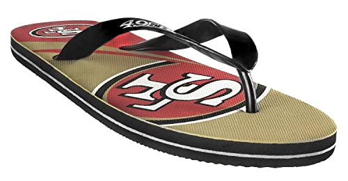 98e37b352 Amazon.com  NFL Flip - Flop Big Logo Unisex Size Medium Pick Team ...