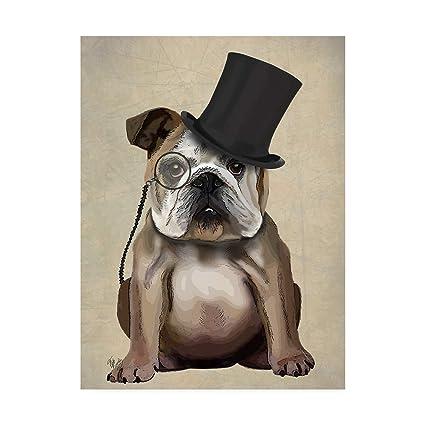 c85e0715bfc Amazon.com  Trademark Fine Art English Bulldog