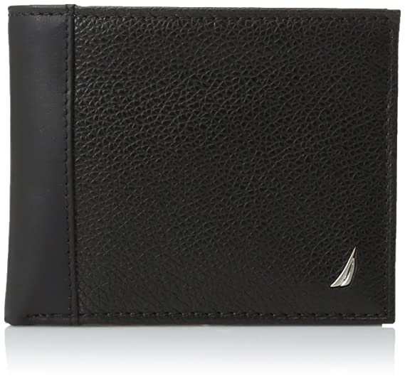 1005559d29cb Nautica Men's Milled Leather Passcase Wallet
