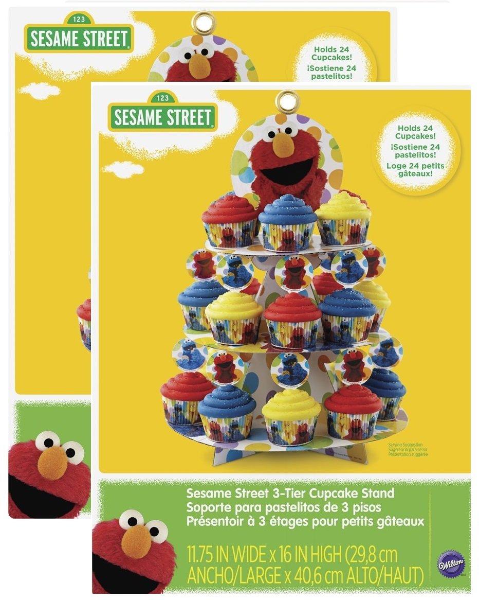 Wilton 1512-3470 Sesame Street Cupcake Tower, Multicolor9(2 towers)