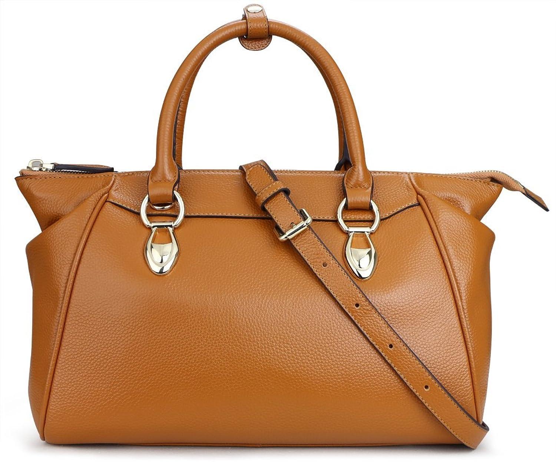 Qiwang Luxury Fashion Women Soft Leather Tote Top Handle Cross Body Doctor Handbag Purse Bag