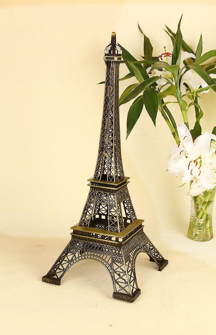 Amazon.com: Christmas Gift Metal French Eiffel Tower Statue Figurine ...