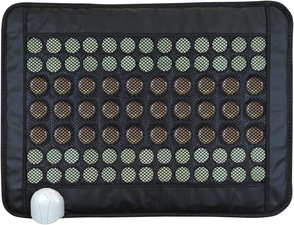 """Far Infrared Jade and Tourmaline Heating Pad - for Back Pain and Cramps Relief, Double Efficacy(23.2""""*17.3"""")"""