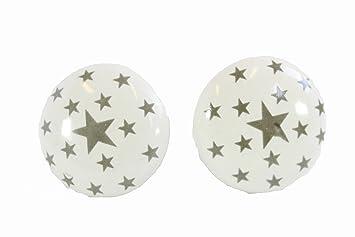 Kommodenknöpfe minawum kommodenknöpfe 2er set sterne grau möbelknopf 3 7x3 7cm aus