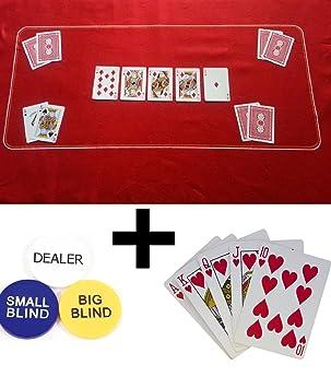 Tapete de póquer, Texas Holdem/fieltro, tamaño + póquer ...