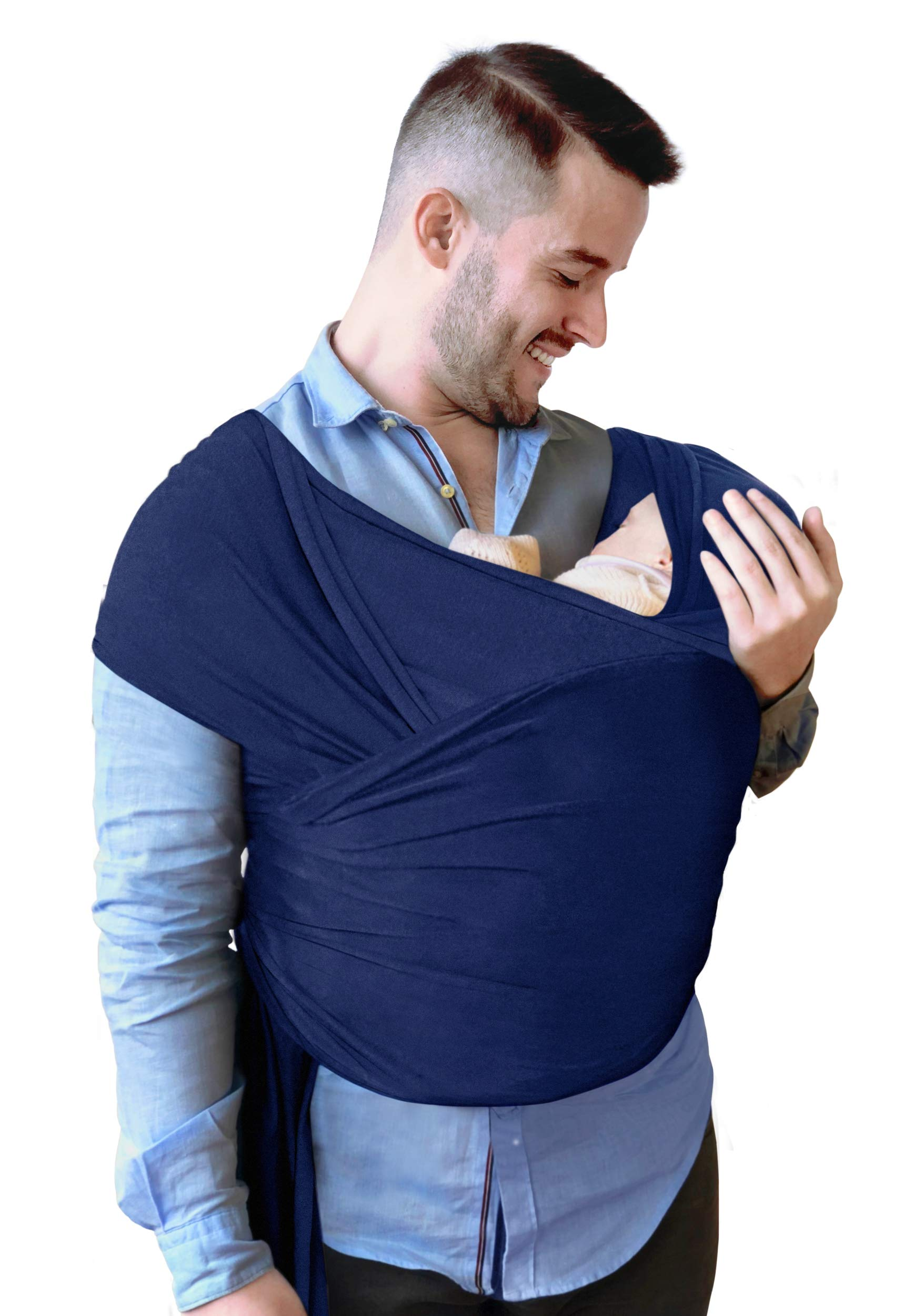 d103fc379e0 Baby Wrap Carrier - Baby Sling Kangaroo Wrap for Infant and Newborn -  Stretchy Hands Free