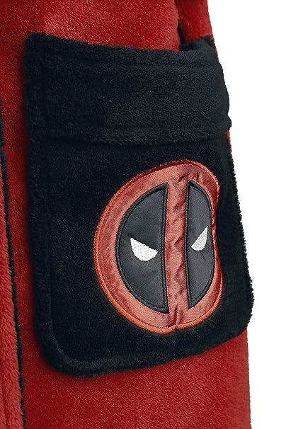 Deadpool Albornoz Logo 116cm Marvel Rojo Negro: Amazon.es: Ropa y accesorios