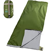MoKo Camping Sleeping Bag, Portable Lighweight Waterproof Envelop Sleeping Bag with Compression Sack for Hiking, Backpacking, Traveling, Trekking, Outdoor Activities