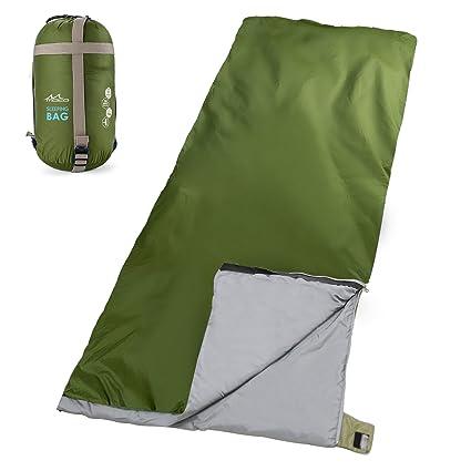 MoKo Al Aire Libre Camping Saco de Dormir, portátil versátil Ultraligero Envelope Saco de Dormir con Bolsa de compresión para Senderismo, Backpacking, ...