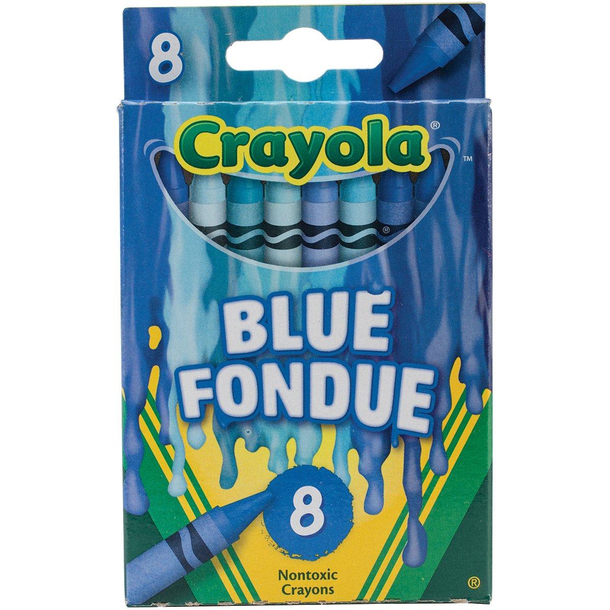 Crayola 5242-09A00 Meltdown Crayons, 8 Pack, Blue Fondue