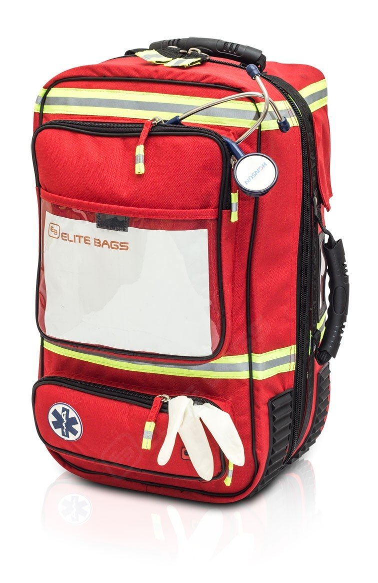 EMERAIR'S Emergency's Respiratory Bag | Elite Bags EMS Emergency Oxygen Rescue Bag | Medical Rescue Backpack | Portable Oxygen| First Responder | EMT Bag | First Aid Kit by Elite Bags