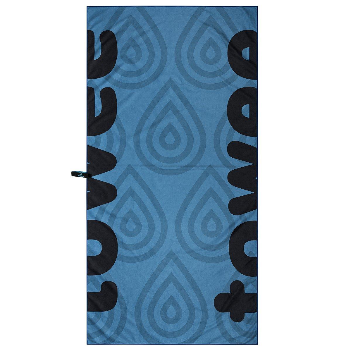 Towee Toalla de microfibra para deporte viaje, secado rápido, ligera Impresión Digital Toalla con compacto de viaje, Droplet Azul secado rápido ligera Impresión Digital Toalla con compacto de viaje .