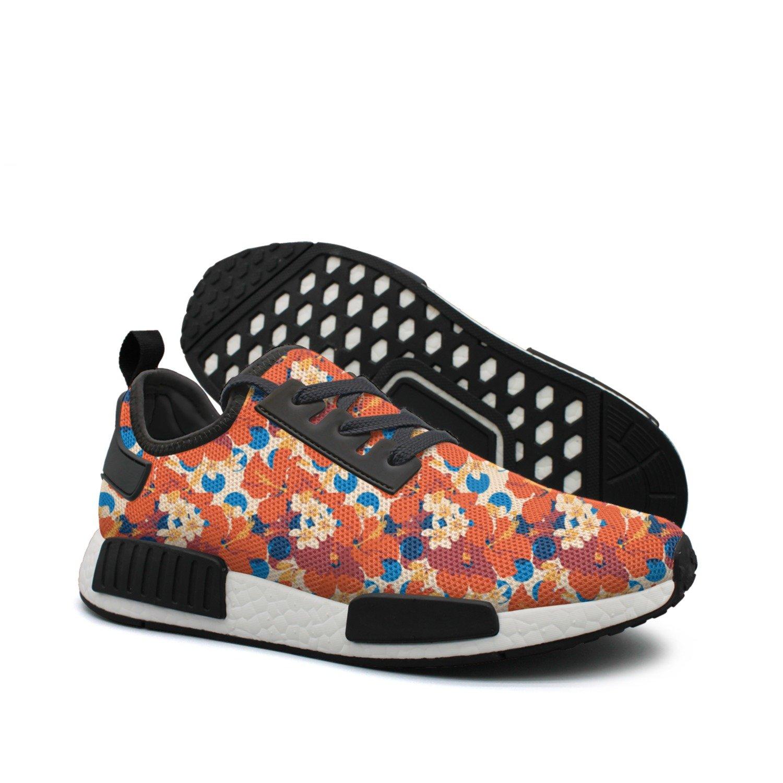 Women's colorful Net Summer Hawaiian Tropical Pattern Jogger Running shoes