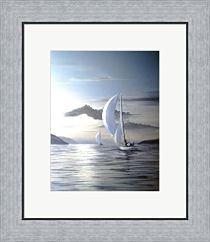 Amazon.com: White Sails by Thomas Linker Framed Art Print Wall ...