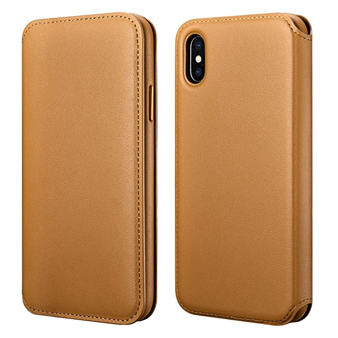on sale 9aeac 30001 iPhone X Wallet Case, iPhone X Leather case Icarercase Detachable [2 in 1]  Leather Folio Case Flip Cover [Shock Resistant] with Credit Card Slot for  ...