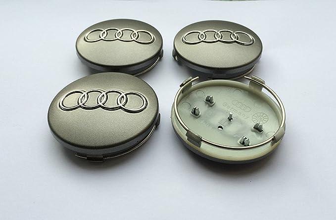 Set von vier Alufelgen Mitte Radkappen grau Bez/üge Badge 60/mm 4B0/601/170/passend f/ür Audi A3/A4/A5/A6/A7/A8/S4/S5/S6/S8/RS4/Q3/Q5/Q7/TT A4L A6L S Line Qua